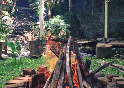 Fireplace for Agnihotra ceremony